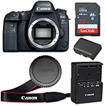 Canon EOS 6D Mark II 26.2 MP CMOS Digital SLR Camera with 3.0-Inch LCD (Body Only) - Wi-Fi Enabled (Certified Refurbished)