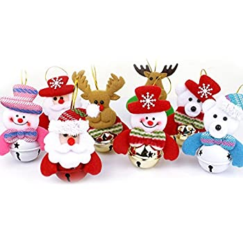 Miniature Christmas Decoration Ornaments Festive Embellishments in 6 Assorted Designs Juvale 12-Pack of Christmas Tree Decorations