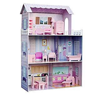 Teamson Kids Fancy Mansion Wooden Doll House