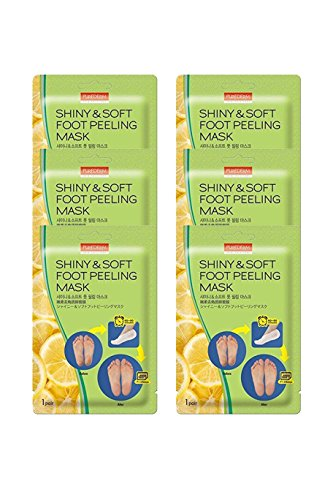 Multi Pair Foot Peeling Mask Set By Purederm – Exfoliating Foot Peel Spa Mask For Baby Soft Skin W/Sunflower Seed Oil & Lemon Extract(3Pair,6Pair and 12Pair) (6-Pair)