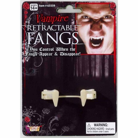 Retractable Vampire Fangs Adult Halloween Accessory