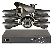 8 HD 1080P Varifocal 2.8-12mm Security Bullet IR 200ft Night Vision HD Kit for Business Professional Grade