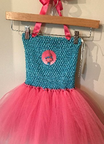 Trolls Poppy Tutu Dress Up Costume (4T - 7/8y)