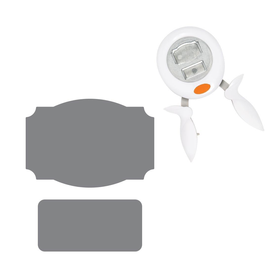L Acero de calidad//Pl/ástico 1024411 /Ø 3,8 cm Blanco//Naranja Bote Fiskars Alicates perforadoras Para diestros y zurdos