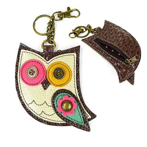 (Chala Key Fob/coin Purse (Color Owl) )