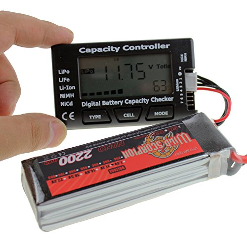 7 Digital Battery Capacity Checker Meter Tester for NiMH Nicd Life LiPo Li-ion Battery