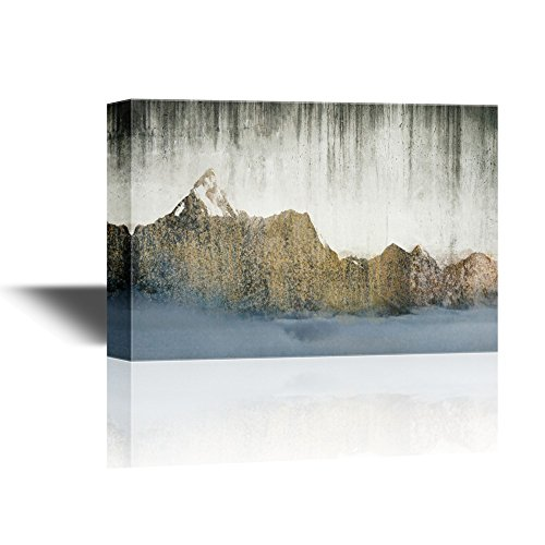 Abstract Landscape with Mountains on Vintage Background Gallery