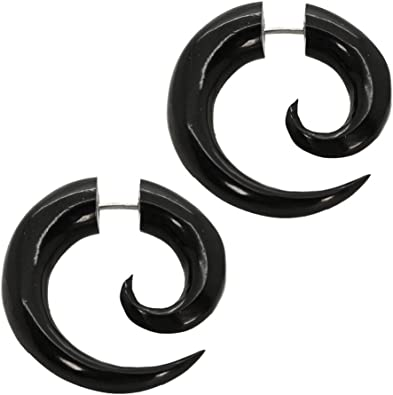 tumundo 2 Finto Espirales Estensor Falso Piercing Oreja Fake-Plug ...