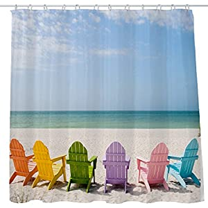 51Bkbz1AsQL._SS300_ 200+ Beach Shower Curtains and Nautical Shower Curtains