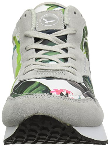 Co Floral amp; Hawke Fashion Grey Men's Mid Warren Sneaker 54pxSwqx8d