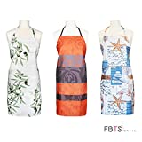 FBTS Basic Womens Aprons with Two Big Front Pockets (Set of 3) Adjustable Buckles Water Resistant For Women And Men