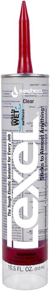 Sashco Lexel Flexible Caulk - Clear (10.5-Ounce Cartridge, Pack of 12)