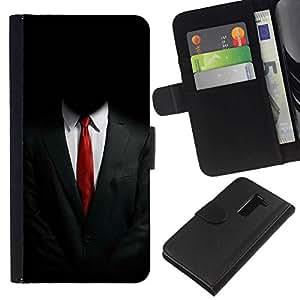 All Phone Most Case / Oferta Especial Cáscara Funda de cuero Monedero Cubierta de proteccion Caso / Wallet Case for LG G2 D800 // ANONYMOUS SUIT