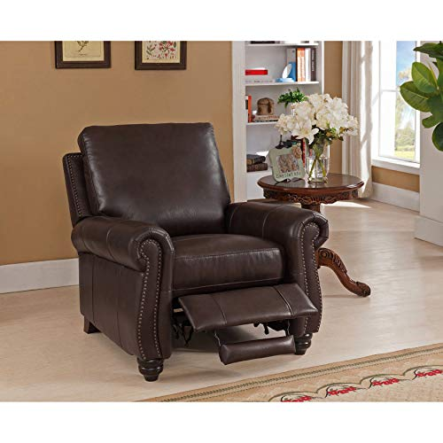 Sofaweb.com Fulton Brown Premium Top Grain Leather Recliner Chair