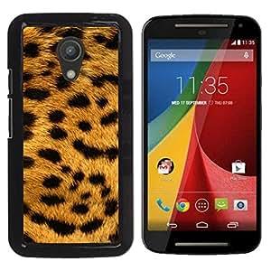 Paccase / SLIM PC / Aliminium Casa Carcasa Funda Case Cover - Texture Big Cat Leopard Pattern - Motorola MOTO G 2ND GEN II
