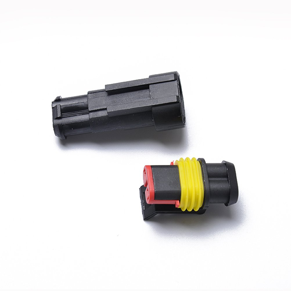 VORCOOL 10kits Wasserdicht 2 Pin Way Elektrische Terminal Draht-stecker Socket Kit