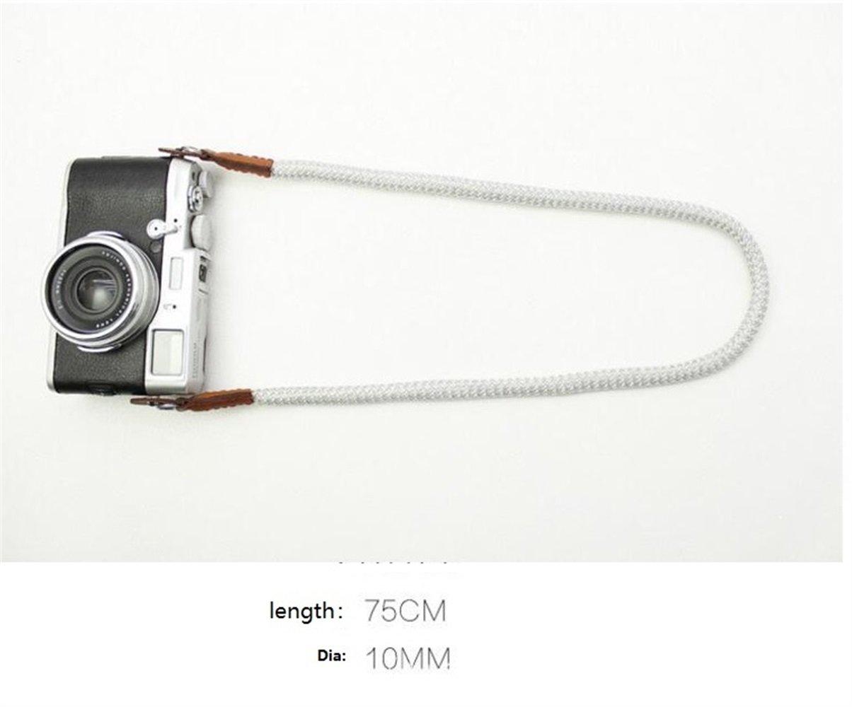 Tery Baby Toddler giocattoli giocattoli elettronic Morbido cotone con cinturino per tracolla fotocamera in pelle PU per Leica Canon Nikon (grigio)