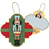Jillson Roberts Christmas Sparkle String-Tie Gift Tags, Traditional Nutcracker, 24-Count (XTS611)