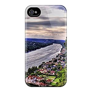 Durable Defender Case For Iphone 4/4s Tpu Cover(alone The River) by lolosakes