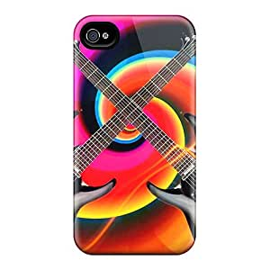 AMY KS Perfect Tpu Case For Iphone 4/4s/ Anti-scratch Protector Case (electric Guitars)