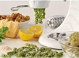 Esta máquina de pasta eléctrica aportará un sabor de Italia en su cocina crear su Gourmet para espaguetis bucatini Rigatoni Fusilli macarrones Creations compatible con cada KitchenAid mezclador de soporte: Amazon.es: Hogar