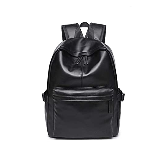 bdf3d9bc955d Zeafin Vintage PU Leather Backpack School College Bookbag Laptop Computer  Daypack Black