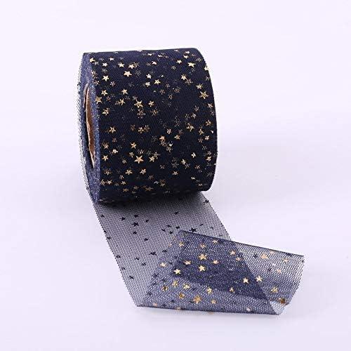 LYX ブロンズスターメッシュ糸ロールス手作りDIY子供のヘアアクセサリー素材リボン布リボンボウアクセサリー(6センチメートル)の2台のロールス (Color : #-7)