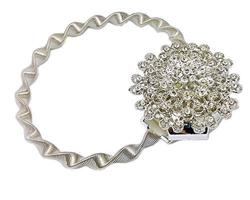 EleCharm Europe Style Creative Wire Spring Curtain Tiebacks Magnetic Diamond Holdbacks (Silver) by EleCharm (Image #2)