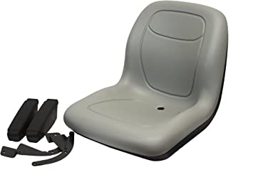 Amazon.com : The ROP Shop Grey HIGH Back SEAT w/ARM Rests for Exmark ZTR Zero Turn Lawn Mower Tractor : Garden & Outdoor