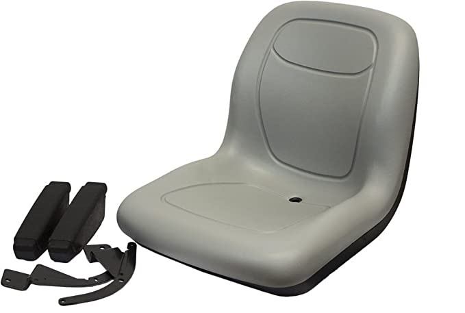 Amazon.com : The ROP Shop Grey HIGH Back SEAT w/ARM Rest Hustler ZTR Zero Turn Lawn Mower Garden Tractor : Garden & Outdoor