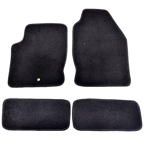 Floor Mats Fits 2000-2007 Ford Focus   3 4 5Dr Factory Fitment Car Floor Mats Front & Rear Nylon by IKON MOTORSPORTS   2001 2002 2003 2004 2005 2006