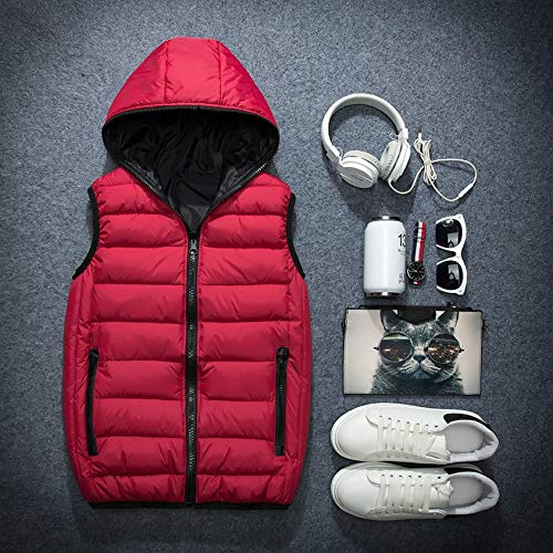 Gilet Autunno Senza Plus Red Invernale Per Cappuccio Size Maniche Mua Giacca Work 3xl Donna Caldo Lavoro Con Mens Uomo Da Primavera Moda rCWeQxBod