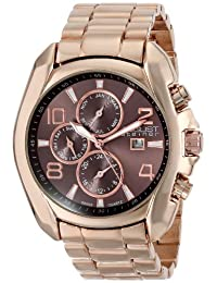 August Steiner Men's AS8109RG Analog Display Swiss Quartz Rose Gold Watch
