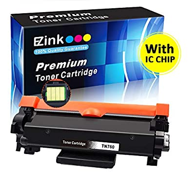 E-Z Ink (With CHIP) Compatible Toner Cartridge Replacement For Brother TN760 TN 760 TN730 for Brother HL-L2350DW HL-L2395DW HL-L2390DW L2370DW L2370DWXL MFC-L2750DW MFC-L2710DW DCP-L2550DW(1 Black)