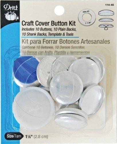 Dritz Various Craft Cover Button Kits-Size 45 10//Pkg by Dritz