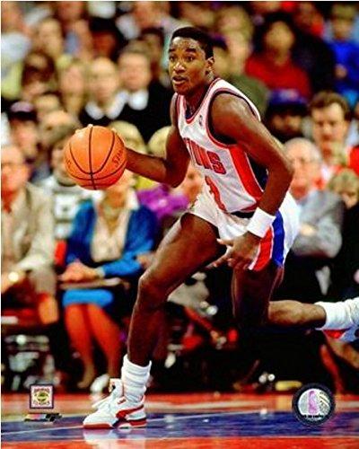 Isiah Thomas Detroit Pistons NBA Action Photo (Size: 16