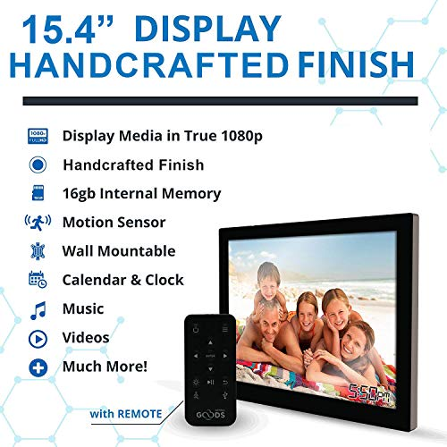 15.4 inch HD Digital Picture Frame - 1080p High Definition ...