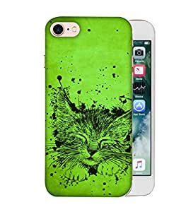 ColorKing Apple iPhone 8 Case Shell Cover - Cat Multi Color