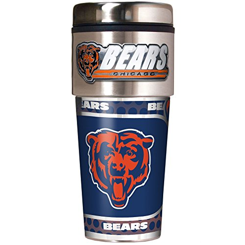 Great American Products Chicago Bears 16oz. Stainless Steel Travel Tumbler/Mug