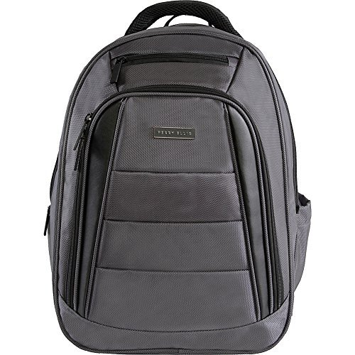 51Bkei7CAiL - Perry Ellis Men's M325 Business Laptop Backpack with Tablet Compartment, Charcoal, One Size