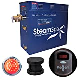 Steam Spa IN900OB Indulgence 9 KW Quick Start Acu-Steam Bath Generator Package, Oil Rubbed Bronze