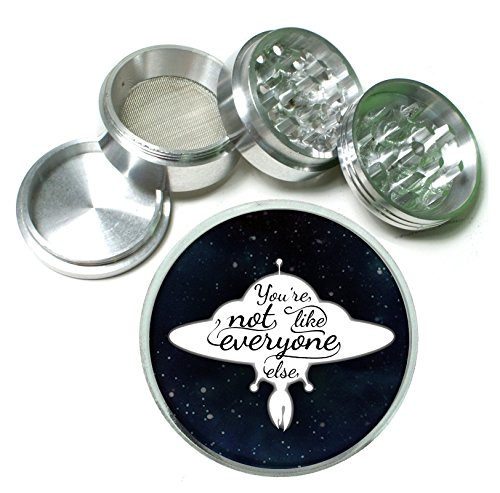 You're Not Like Everyone Else Space Ship UFO 4 Pc. Aluminum Tobacco Spice Herb Grinder (Ufo Collectibles)