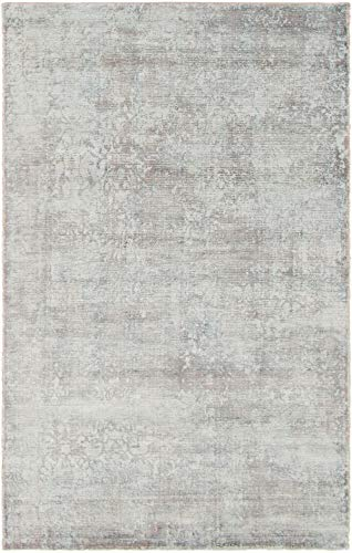 eCarpet Gallery Hand-Knotted | Area Rug for Living Room, Bedroom | Eternity Casual Grey Rug 4'11