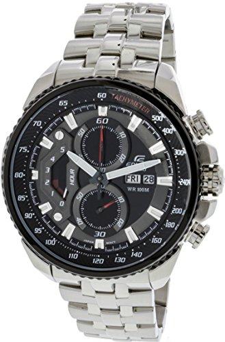 Casio Men's Edifice Tachymeter Chronograph Dial Watch Black (Gents Tachymeter Watch Chronograph)