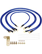 Acouto Car Grounding Kit Universal 5-Point Auto Earth Cable System Ground Grounding Wire Kit