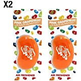 Jelly Belly Pink Grapefruit Flavour 3D Hanging Car / Office Air Freshener - 2 Pack (Twin Pack)