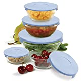 Norpro 10-Piece Nesting Glass Bowl Set with Lids