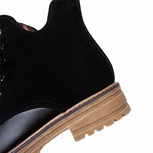 Mee Shoes Damen Niedrig mehrfarbig ankle Boots Schwarz