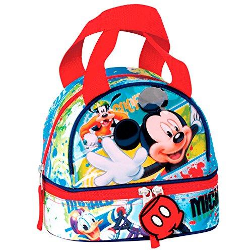 Montichelvo Bolsa Portameriendas Modelo Mickey Mouse Face, Compuesto,, 25x8x20 cm 54370