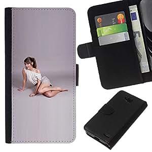 // PHONE CASE GIFT // Moda Estuche Funda de Cuero Billetera Tarjeta de crédito dinero bolsa Cubierta de proteccion Caso LG OPTIMUS L90 / Yoga style /